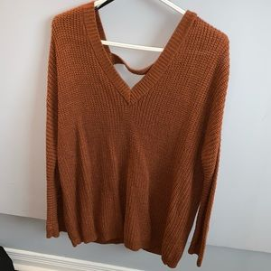 Forever 21 sweater with cutout back